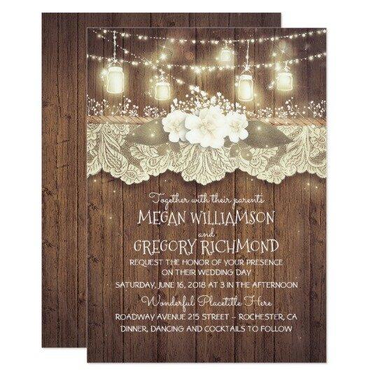 Country Chic Wedding Invitations Unique Rustic Wedding